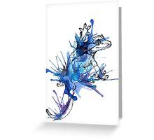 Taru-Blueberry Splash Greeting Card