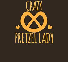 Crazy Pretzel Lady Womens Fitted T-Shirt
