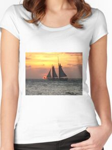 Sunset Sail in Key West Women's Fitted Scoop T-Shirt