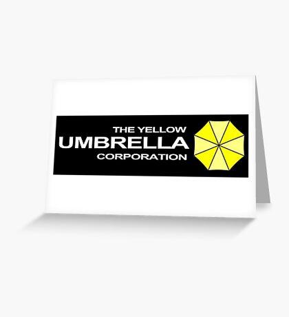 The Yellow Umbrella Corporation Greeting Card