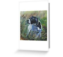 Pointer Fine Art Painting Greeting Card