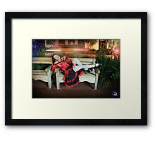 Waiting on State - Joanna Plant Framed Print