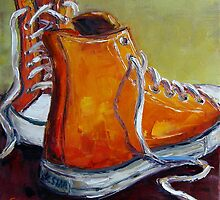 Orange Chucks by Claudia Hansen
