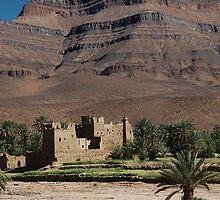 Kasbah, nr Ouarzazate by Christopher Cullen