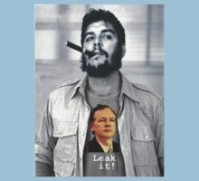Che wears Assange! One Piece - Short Sleeve