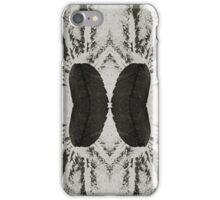 black ink, collage iPhone Case/Skin