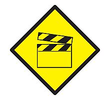 WARNING Film movie board Photographic Print