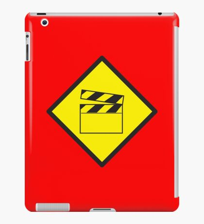 WARNING Film movie board iPad Case/Skin