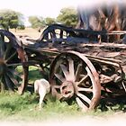 The old Wagon by julie anne  grattan