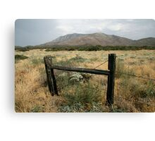 Old Fence in US Desert Canvas Print