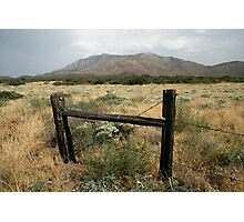 Old Fence in US Desert Photographic Print