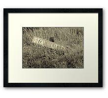 Don't Litter Framed Print