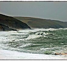 """ Two hours before high tide & it's rushing towards the shore"" by mrcoradour"
