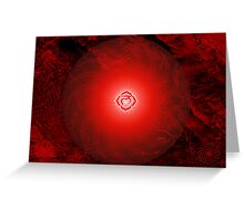 Base Chakra ~ Red ~ Mulahadra ~ Female Greeting Card