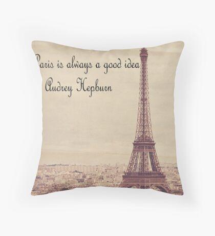 Paris theme Throw Pillow