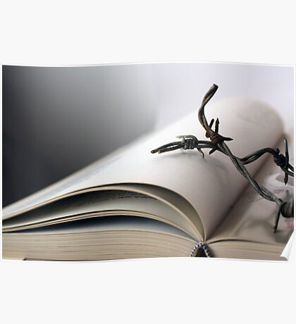Open book with wire Poster