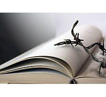 Open book with wire Photographic Print