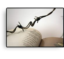 Book with wire 2 Canvas Print