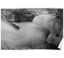 Icicles and Silky Water Flow Poster