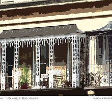 Cheltenham - Ornate Balconies by Sue Porter