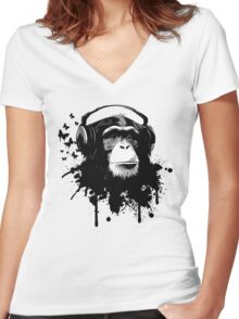 Monkey Business Women's Fitted V-Neck T-Shirt