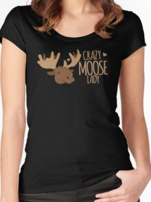 Crazy Moose Lady Women's Fitted Scoop T-Shirt