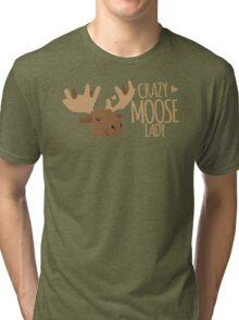 Crazy Moose Lady Tri-blend T-Shirt