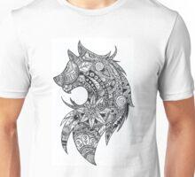 Zentangle Wolf Unisex T-Shirt