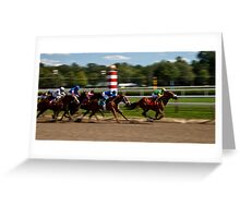 Top of the Stretch - Saratoga Springs, NY Greeting Card