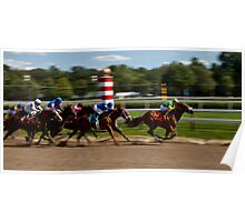 Top of the Stretch - Saratoga Springs, NY Poster