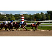 Top of the Stretch - Saratoga Springs, NY Photographic Print