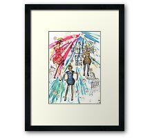 Window dress Illustration Framed Print