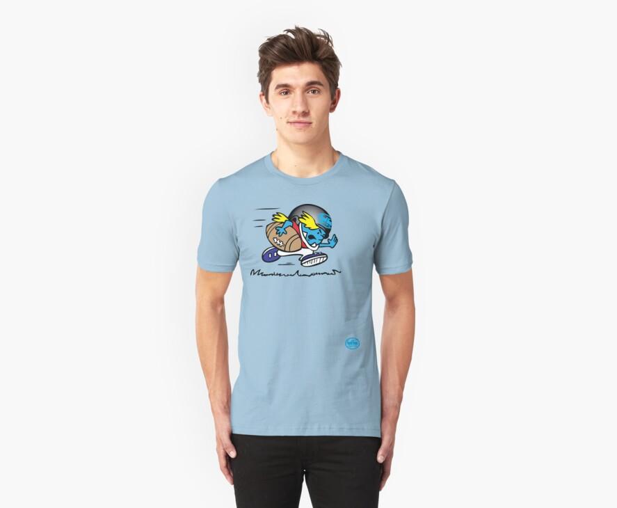 american footbal tshirt by rogers bros by usanewyork
