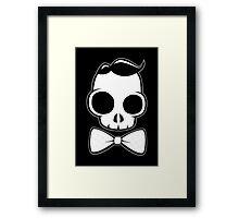 Skull Classy Bow Tie Framed Print