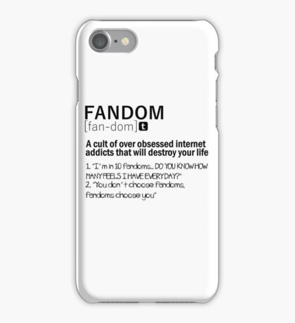 Fandom iPhone Case/Skin