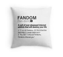 Fandom Throw Pillow
