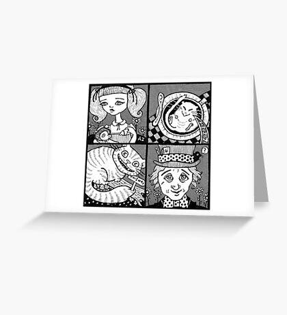 Wonderland Miniatures (Panel 1) Greeting Card