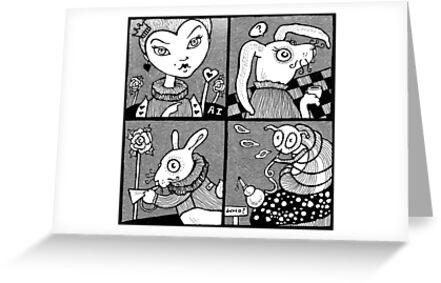 Wonderland Miniatures (Panel 2) by Anita Inverarity