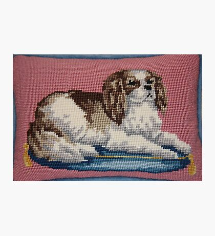 Cavalier King Charles Spaniel in Needlepoint Photographic Print