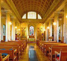 St Lawrence, Mereworth - Nave panorama by Dave Godden