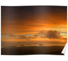 Cadillac Mountain Sunrise Poster