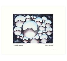 Chrome Spheres Art Print