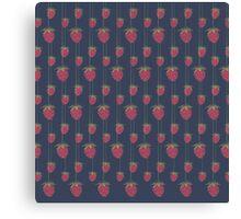 Sweet Hanging Strawberries Canvas Print