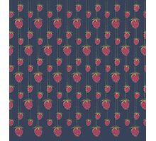 Sweet Hanging Strawberries Photographic Print