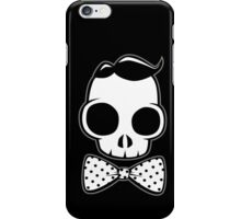 Skull Classy Polka Dot Bow Tie iPhone Case/Skin
