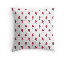 red thunderbolt Throw Pillow