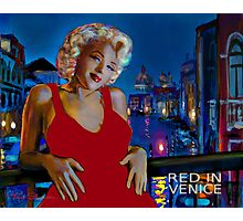 Red In Venice Photographic Print