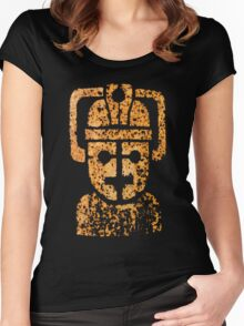 Rusting Cyberman Logo Women's Fitted Scoop T-Shirt