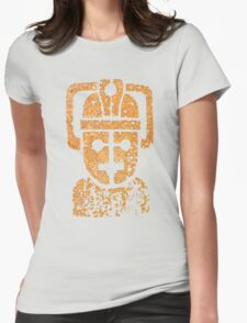 Rusting Cyberman Logo Womens Fitted T-Shirt