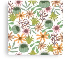 floral pattern exotik flowers Canvas Print